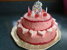 Pretty pink fairy cake for a 6 year old girl