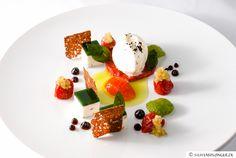 4x tomate | büffelmozzarella & ziegenkäseterrine | basilikumgelee