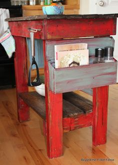 Pallet kitchen Island at Beyond The Picket Fence