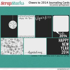 FREEBIE: New Year's 2014 journaling cards