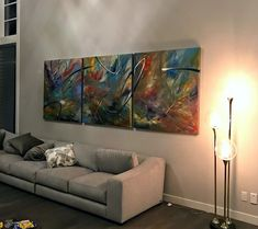 Elliptical Resonance, mixed media abstract painting by Joel Masewich Contemporary Decor, Modern Decor, Modern Art, Headboard Art, Cast Glass, Transitional Decor, Canadian Artists, Rustic Chic, Metal Art