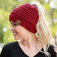 Cheap winter hats for women, Buy Quality winter hat directly from China winter hat wholesale Suppliers: LONSUNNOR 2017 New Trendy CC Warm Winter Hat For Women Ponytail Beanie Stretch Cable Knit Messy Bun Hats Soft Ski Cap Wholesale Warm Winter Hats, Winter Hats For Women, Women Hats, Knit Beanie, Beanie Hats, Cc Beanie, Cc Hats, Cute Beanies, Ponytail Beanie