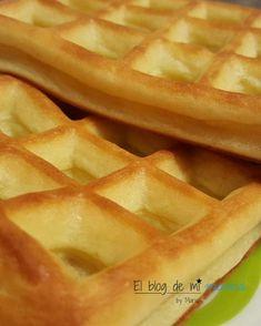Gofres de avena y manzana