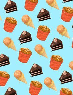 Los geniales (¿y comestibles?) patrones diseñados eilustrados porMonica Esquivel.         — MONICA ESQUIVEL