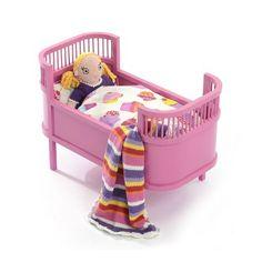 """Smallstuff dukkeseng """"Rosaline"""" m tilbehør, pink - spar kr Kids House, Little People, Toddler Bed, Dolls, Furniture, Home Decor, Wooden Toy Plans, Child Bed, Baby Dolls"""