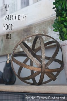 DIY Embroidery Hoop Orb. These DIY Embroidery Hoop Orbs can be made in under 30 minutes. I love it when things are big on easy but also big on impressive!