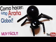 Como hacer Columna del Hombre Araña en globos // Spiderman // How to make spiderman on balloons - YouTube
