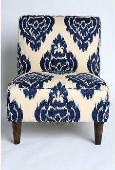 Indigo Ikat chair