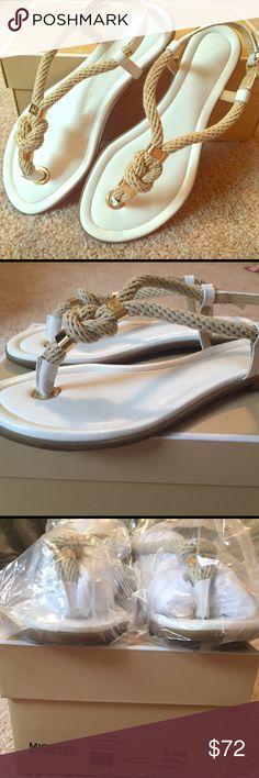 Spotted while shopping on Poshmark: ⚓️Michael Kors Holly Leather Sandals *NEW*! #poshmark #fashion #shopping #style #MICHAEL Michael Kors #Shoes