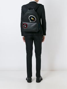 #fendi #faces #badge #backpack #black #men #fashion #style www.jofre.eu