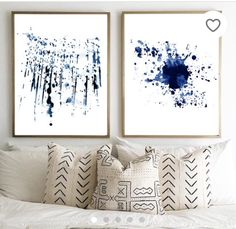 Abstract Watercolor Blue Painting Stripes Indigo Blue Wall art Navy Lines Minimalist art Minimal Watercolor Large Abstract Print Geometric Blue Abstract, Abstract Watercolor, Abstract Print, Boho Dekor, Modern Art Paintings, Blue Painting, Modern Wall Decor, Minimalist Art, Blue Walls
