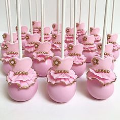 Pink and gold tutu cake pops- by sweet bake Maria Ballerina Birthday Parties, Frozen Birthday Party, Princess Cake Pops, Princess Tutu, Ballerina Cake Pops, Cupcakes, No Bake Cake Pops, Pink Cake Pops, Ballet Cakes