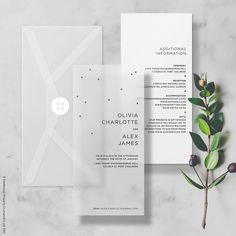 Vellum Minimal Wedding Invitation/Invite, includes Info Card & Choice of Envelope. #weddings #invitation #clear #typographic #modern #minimal #sticker #minimalism #vellum #seethrough #transparent #translucent #clear #weddinginvites #weddinginvitations
