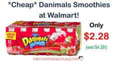 HOT BUY! Snag Danimals Smoothies 12 count Value Pack for only $2.28! (reg $4.28) at Walmart! Nice price!  Click the link below to get all of the details ► http://www.thecouponingcouple.com/danimals-smoothies/ #Coupons #Couponing #CouponCommunity  Visit us at http://www.thecouponingcouple.com for more great posts!