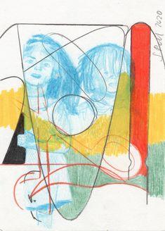 Sabrina Pohl, carrier, pencils, postcard (2018-2020) contemporary abstract art Contemporary Abstract Art, Painting, Painting Art, Paintings, Painted Canvas, Drawings