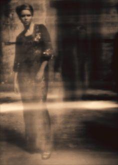 BBC pinhole camera pictures: Model Agnieszka Stenka standing in Radom, Poland by Jagna Garbacz.