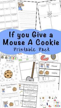 you Give a Mouse a Cookie Printable Activities If you Give a Mouse a Cookie PDF - Fun with MamaIf you Give a Mouse a Cookie PDF - Fun with Mama Preschool Lesson Plans, Free Preschool, Preschool Learning, In Kindergarten, Toddler Learning, Sequencing Activities, Preschool Activities, Story Sequencing, Preschool Books
