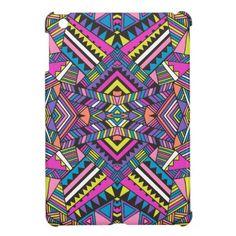 Aztec Tribal Kaleidoscope iPad Mini Cover