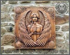 Valkiria Valhalla Odin Vikings maison Decor Art photo en bois