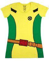 Marvel Women's X-Men Rogue Costume T-Shirt