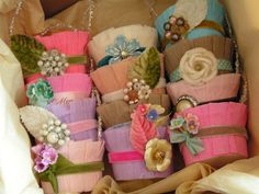 shabby chic pastel Easter baskets