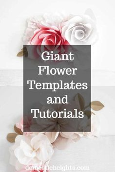 free giant flower svg and printable template Giant Paper Flowers, Paper Roses, Diy Flowers, Tissue Flowers, Handmade Flowers, Flower Svg, Flower Template, Homemade House Decorations, Craft Projects For Adults