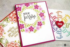 Hi! Today I am sharing a fun trick for quickly creating two cards at once... with lots of stamping! As you likely know, I am a big fan of 2-for-1 technique