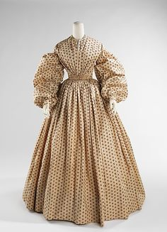 Dress, Morning  Date: ca. 1852 Culture: American Medium: cotton