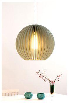 Hängelampe rund aus Holz für Esszimmer, Wohnzimmer oder Küche. // Hängelampe Holz, Lampe rund Holz, Hängeleuchte Esstisch, Hängeleuchte Holz, Hängeleuchte Natur, Lampe skandinavisch Esszimmer, Lampe skandinavisch Wohnzimmer, Lampenschirm Holz, Esstisch Beleuchtung, Designer Leuchten, Lighting Ideas, Lamps wood #lampe #beleuchtung #design #interior #holz #dekoideen #esszimmer #esszimmerideen #esszimmerbeleuchtung #wohndeko #holzdeko Lights Over Dining Table, Dining Lighting, Living Room Lighting, Kitchen Lamps, Dining Table In Kitchen, Hanging Lamp Shade, Hanging Lights, Scandinavian Dining Table, Ceiling Lamp