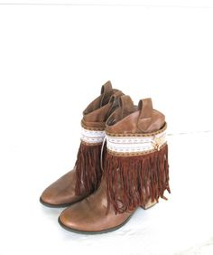Fringe Boot cuffs, Gypsy Boot Wrap, Boho Boot Accessories, Ankle cuff, Boot bracelet, Boot accessories, Fashion Boot Bling. by knitwit321 on Etsy https://www.etsy.com/listing/251205106/fringe-boot-cuffs-gypsy-boot-wrap-boho