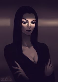 Morticia Addams by ZellaRoss on DeviantArt