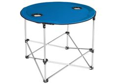 The HGT Folding Round Table provides a unique, lightweight, transportable table that will provide additional surface space for the camp site, the soccer game, the concert, the beach, or the backyard.