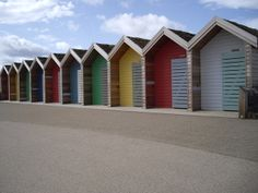 Blyth Beach Huts, Northumberland, July 2010, Jo Hinson