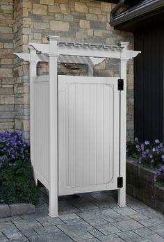 White Pool Fence Ideas