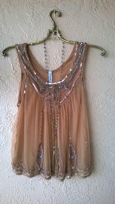 Gypsy Gatsby beaded Free People cami