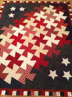 My first twister ruler quilt - quilted it tonight.  It will be a Quilt Of Valor.   Just meander quilted - get's so much more dimension once it's quilted.  By Dawn. I have explained how to make this quilt - my own design, but considering making an actual pattern...