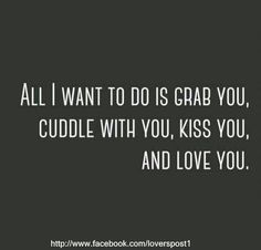 Find images and videos about love, kiss and you on We Heart It - the app to get lost in what you love. All I Want, Things I Want, Love You, My Love, Top Love Quotes, Kiss You, Cuddling, Find Image, We Heart It