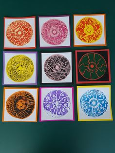 CD monoprints made by 6 year olds. Stunning and oh so easy.