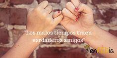"""""""Los malos tiempos traen verdaderos amigos"""" #citas #quotes #notas #motivación #positivo #socialmedia #redessociales #marketing #marketingdigital #communitymanager #sm #enredia"""