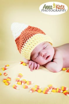 Candy Corn crocheted hat for kids baby by DuckDuckGooseCrochet, $16.00