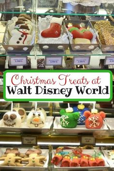 Take a look at all the Christmas treats at Walt Disney World. There are Mickey Mouse gingerbread cookies,cake pops, Candy apples & more! Disney World Vacation Planning, Disney World Parks, Walt Disney World Vacations, Disney Planning, Disney Trips, Disney Resorts, Disney Travel, Vacation Ideas, Disney Very Merry Christmas