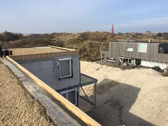 Voortgang bouw - Koningskaars te Schiermonnikoog - 14 maart 2016 - Uitzicht vanaf het dak!