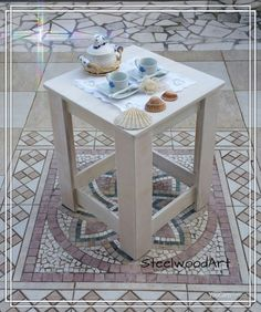 Tavolo da caffè Tavolo multiuso Comodino semplice Tavolo basso bianco Comodino #ebay #handmade #pallett #fattoamano Ebay Shopping, Shabby Chic, Iron, Etsy Shop, Charles Bukowski, Handmade, Furniture, Home Decor, Sky