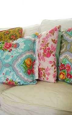new pillows!  by silly old suitcase via Flickr.