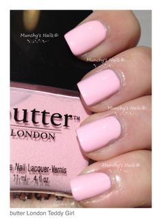 "Butter London ""Teddy Girl"". Inspirational photo by Thea Jeffers. The perfect pale pink  #pink # nailpolish @Bloom.com"