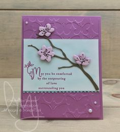 I started this blog for a place I can CREATE, SHARE and INSPIRE other crafters. I am an Independent Stampin' Up! demonstrator and exclusively use their products. I just LOVE how everything from the stamp set, punch, card stock, designer series paper, ribbon and accessories all coordinate! St