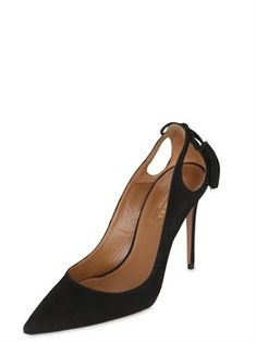 Discover women's top designer clothing, shoes and bags on LUISAVIAROMA. Suede Pumps, Women's Pumps, Heels, Aquazzura, Fall Winter, Winter 2017, Peep Toe, Footwear, Shopping