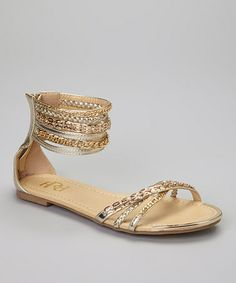 Love this Gold Famke Gladiator Sandal by Fahrenheit on #zulily! #zulilyfinds