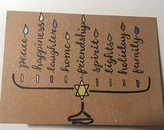 Check out our hanukkah cards selection for the very best in unique or custom, handmade pieces from our shops. Hanukkah For Kids, Feliz Hanukkah, Hanukkah Crafts, Hanukkah Decorations, Christmas Hanukkah, Hannukah, Happy Hanukkah, Menorah, Hanukkah Traditions