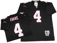 Mitchell and Ness Atlanta Falcons 4 Brett Favre Black Stitched NFL Throwback NFL Jersey $22.99